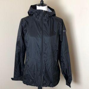 Columbia Black Lightweight Rain Jacket Size Small